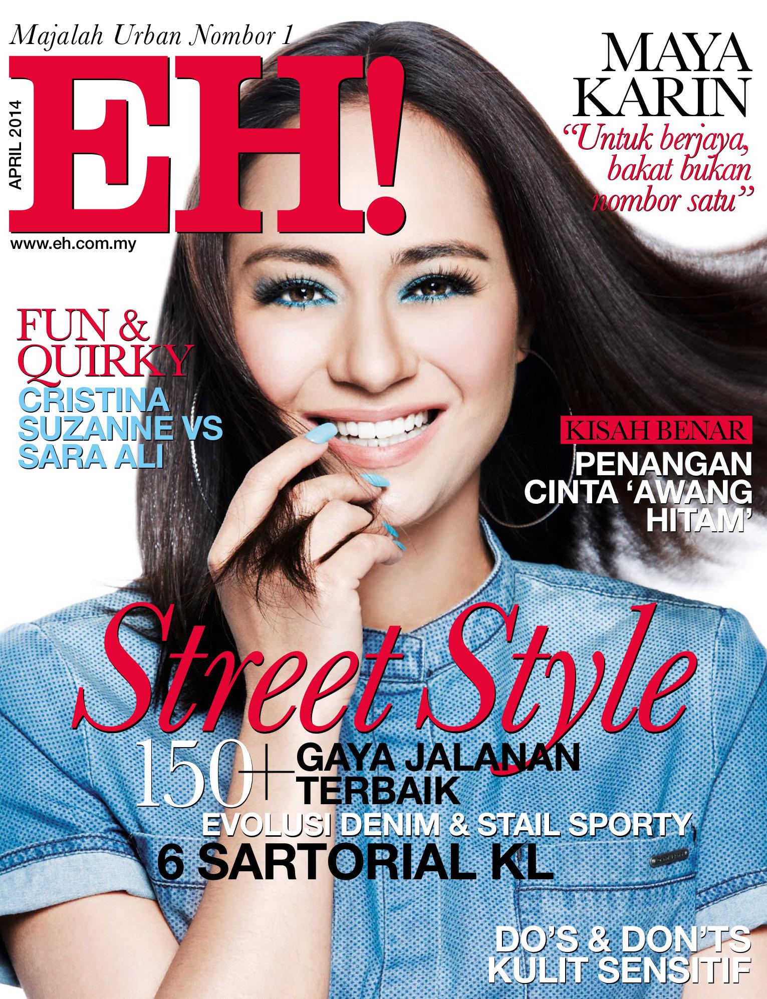Maya Karin Jadi Penghias Muka Depan Majalah EH! April 2014