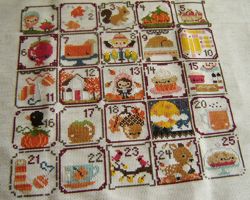 Autumn Sampler Progress
