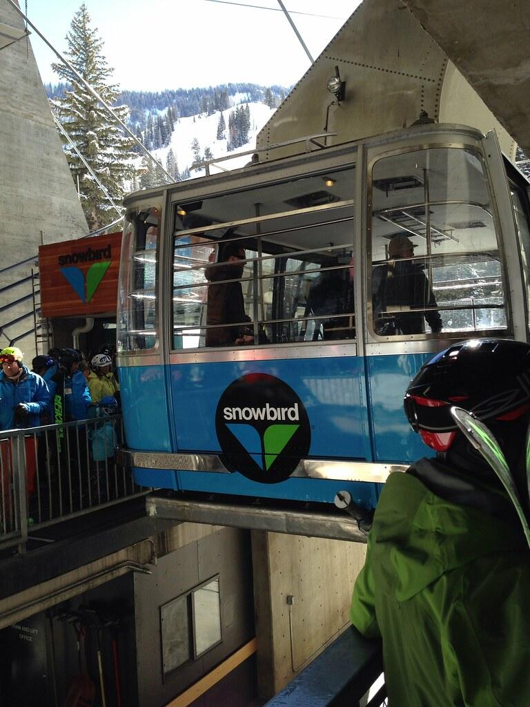 The aerial tram at Snowbird