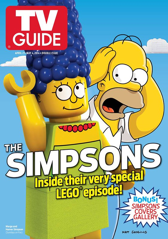LEGO Simpsons TV Guide Cover