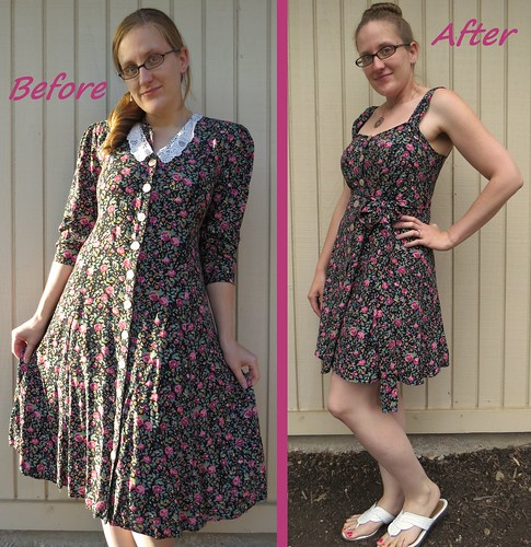 90s Floral Dress - Before & After