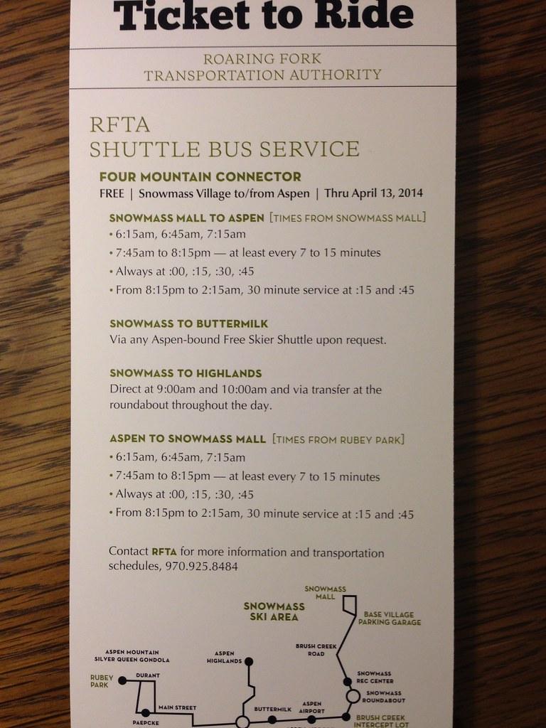Transit shuttle bus schedule