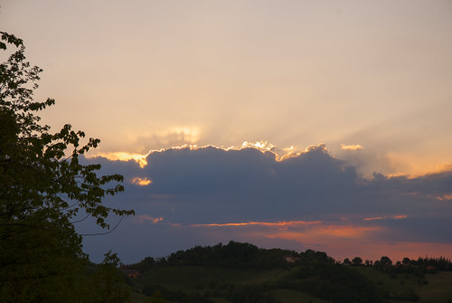 sunset sky sunbeams raggi