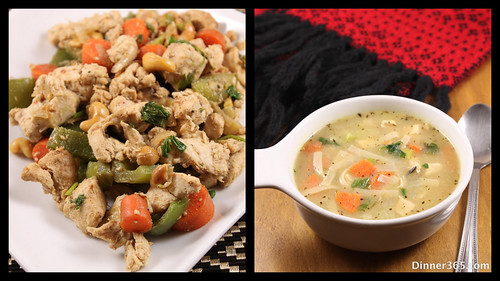 Day 326 - Healthy Aromatic Chicken Soup and Cashew Chicken stir fry