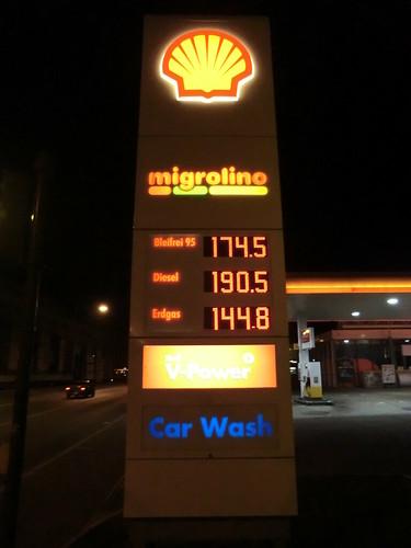 Gasoline price @ Winterthur in Switzerland