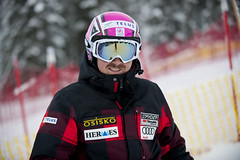 John Kucera's pink helmet in support of the TELUS Go Pink campaign
