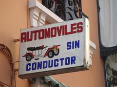 """Cartel: """"Automoviles sin conductor"""""""