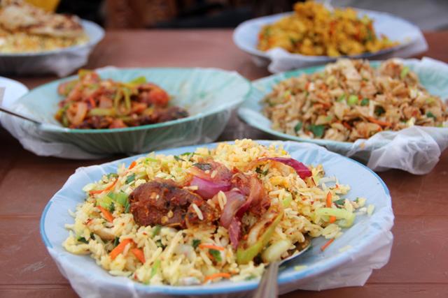 Meal at Nana Fast Food, Colombo, Sri Lanka