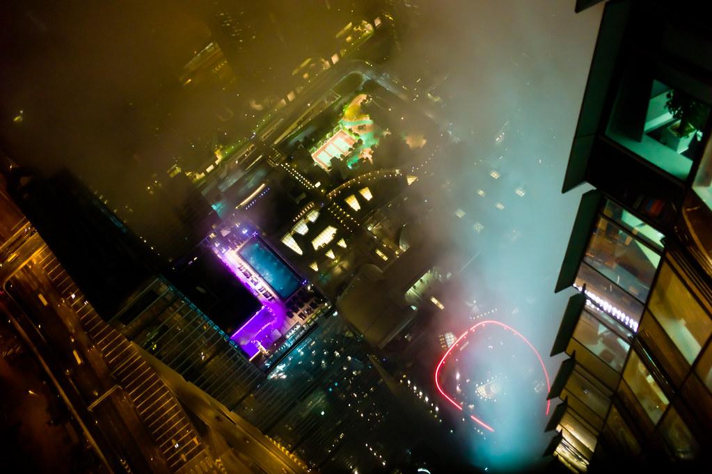 Blick aus der 100. EtagedesICC in Hong Kong