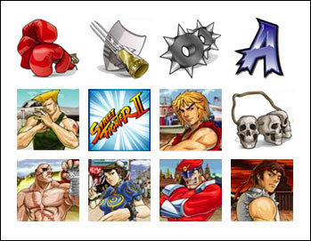 free Street Fighter slot game symbols