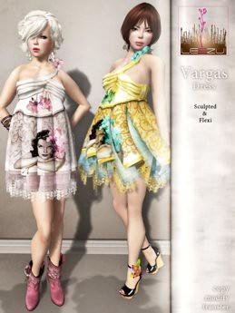 [LeeZu!] Vargas Dress/ cream, 450 lindens by Cherokeeh Asteria