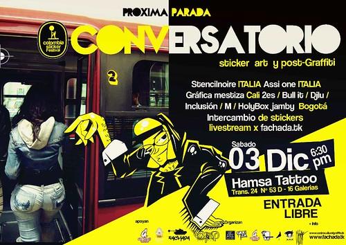 Conversatorio GRAFICA MESTIZA en el Colombia Sticker Festival.. by Gráfica Mestiza