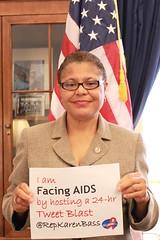 Rep. Karen Bass Facing AIDS