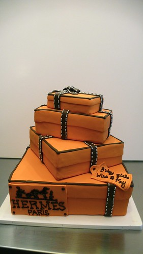 HERMES boxes cake by CAKE Amsterdam - Cakes by ZOBOT