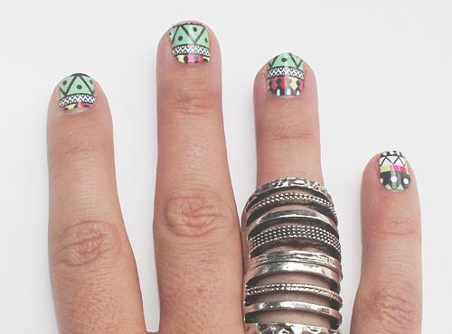 aztec nails 3