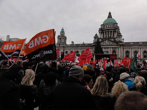 Public Sector Strike Rally at Belfast City Hall