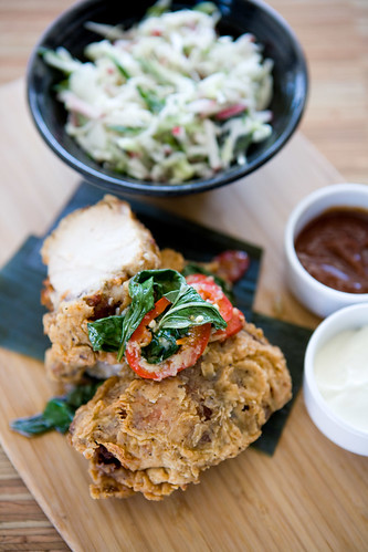 thai style fried chicken with asian slaw by TAKE A BAO