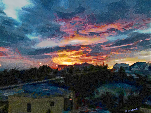 red clouds painting landscape gold dawn interesting canterbury explore timaru explored