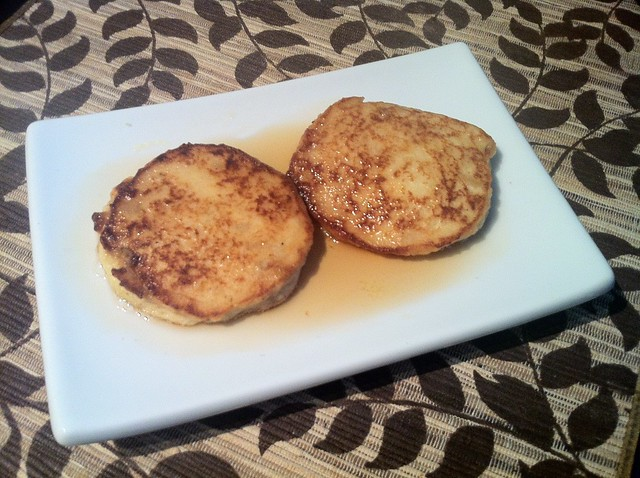 Matafan with maple syrup