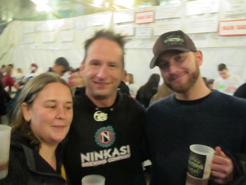 Jenn Stubbs, Jamie Floyd, and David Chappel at Holiday Ale Fest '11