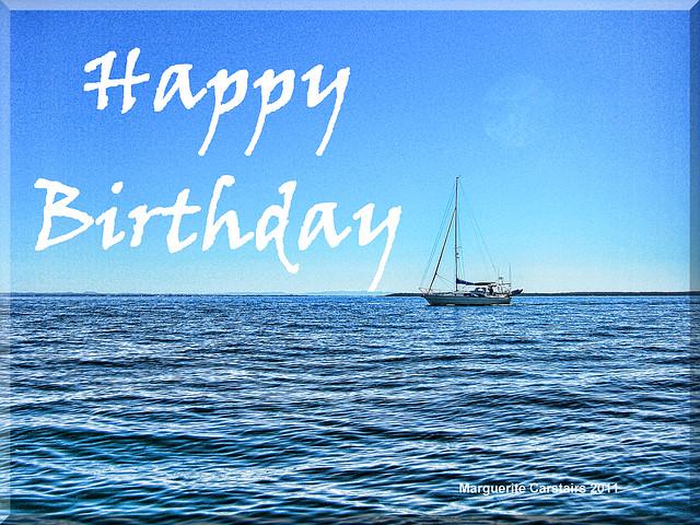 Beach Birthday Card Design
