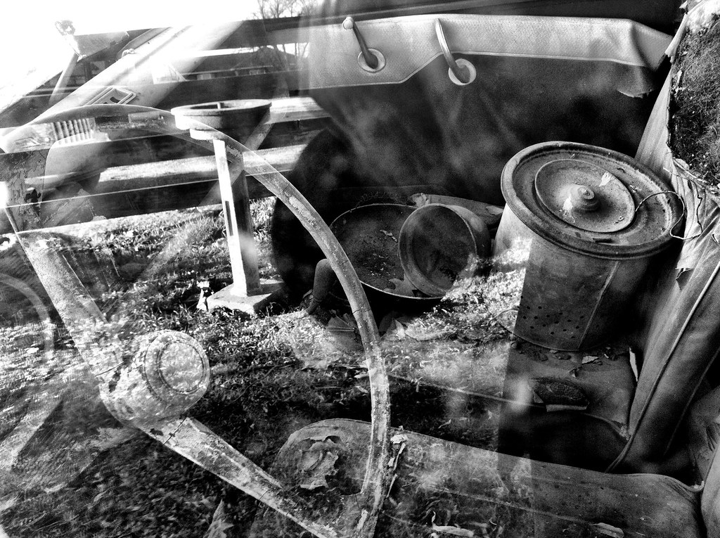 old car, inside