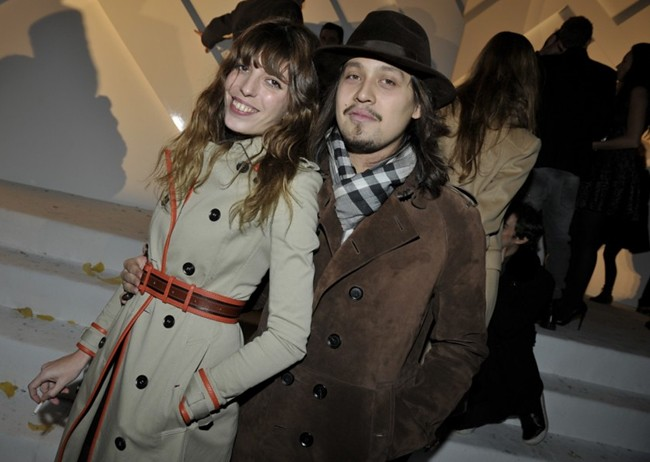 9b - Lou Doillon and Lulu Gainsbourg wearing Burberry at the Burberry Paris event