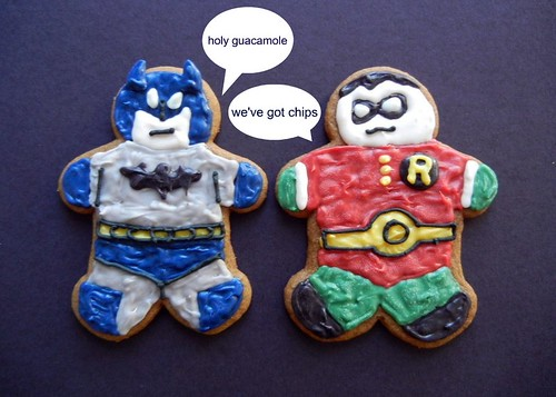 batman and robin gingerbread men