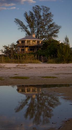 sunset reflection gulfofmexico florida explore ami fl goldenhour tidalpool annamariaisland australianpine efs1755mmf28isusm canonrebelt2i
