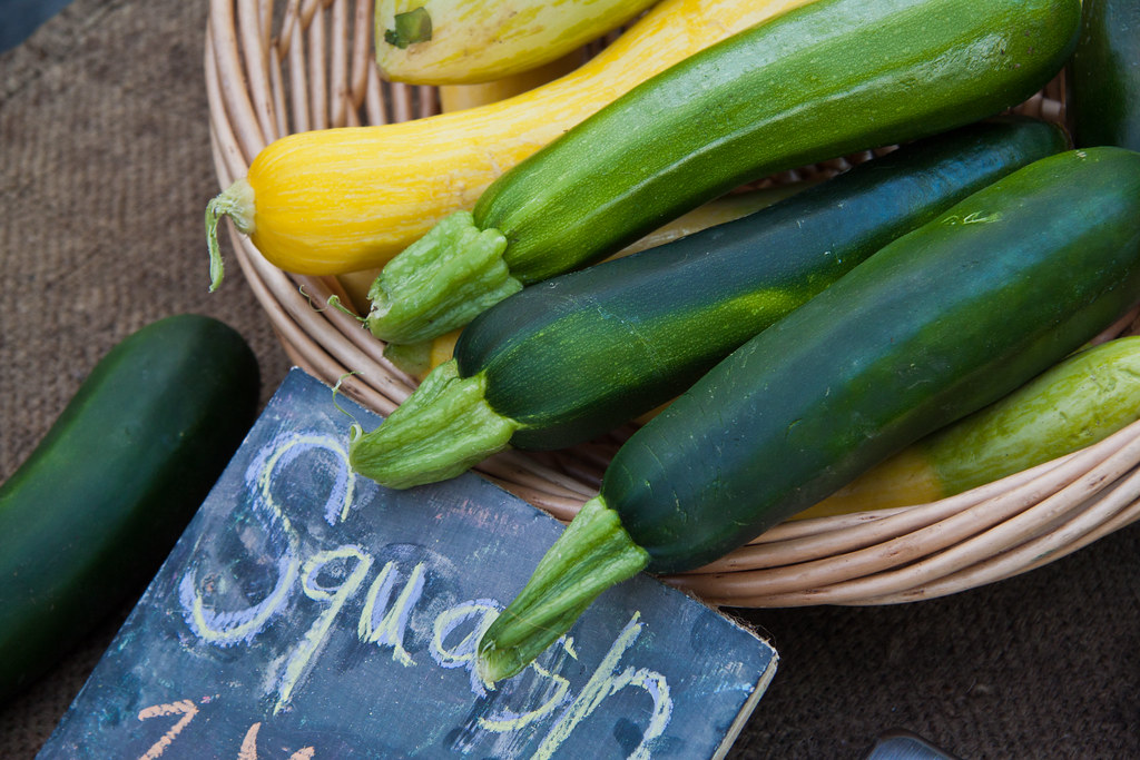 summer squash all varieties, raw