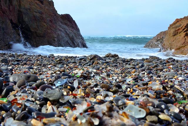 Beach of glass... on Glass Beach