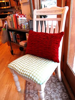 shirred pillow front