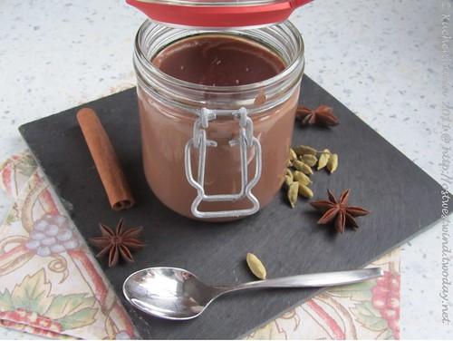 Winterlicher Schokoladenpudding