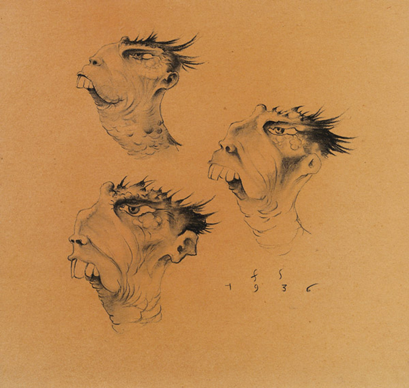 Franz Sedlacek - Imaginary Heads, Study, 1936