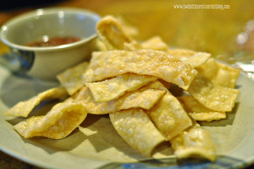 Wonton Chips at Khan's Mongolian BBQ ~ Roseville, MN