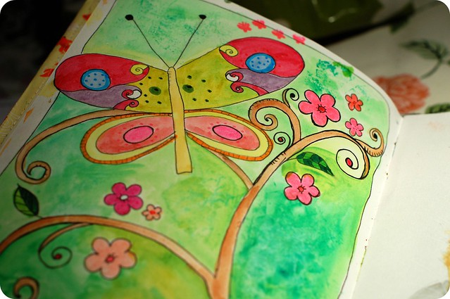 Art journal peek: On butterfly wings