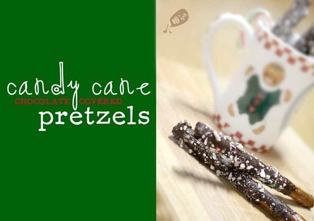Candy Cane Chocolate-Covered Pretzels