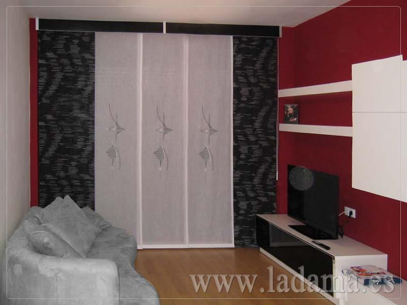 Fotograf as de cortinas en salones modernos la dama - Estores salon modernos ...