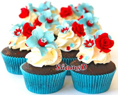 Red n Blue Cupcakes