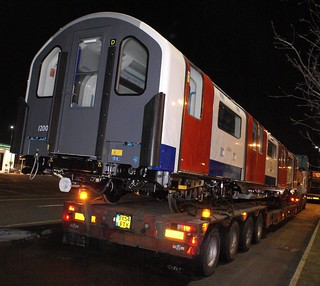 Allelys Andover Trailer loaded with new tube train