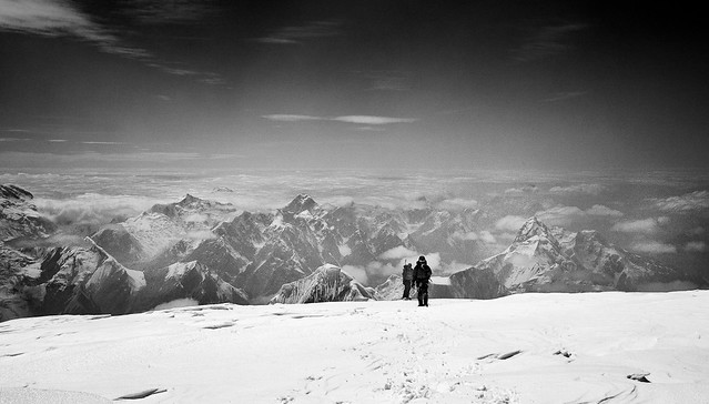 Close to heaven. Khan Tengri (7010m, Tien Shan) summit,