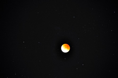 Eclipse of the moon and stars