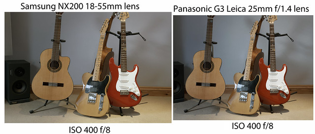 NX200 / G3 comparison - ISO 400