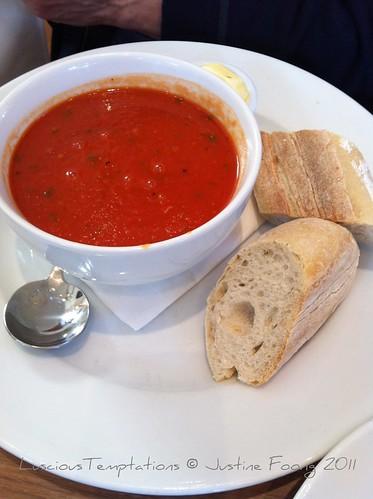 Tomato soup - Villandry, Bicester Village