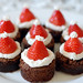 Santa Hat Brownies by well.ill.be.darned