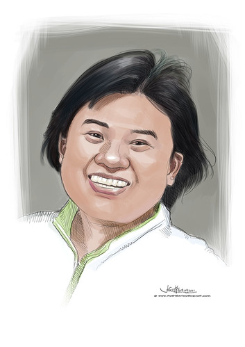 digital portrait of Miss Tan Ching Yee