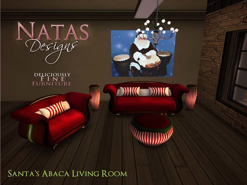 Santa's Abaca Living Room by natashashoteka