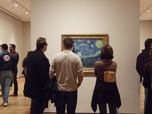 One of these people is JC Looking at Van Gogh.
