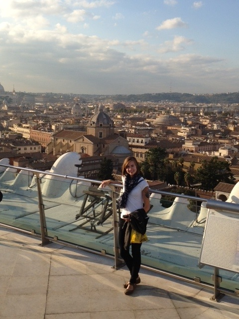 View of Rome from the top of the Capitol Building
