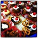 Yummy Christmas-inspired treats from the boss' wife! Pretty too.